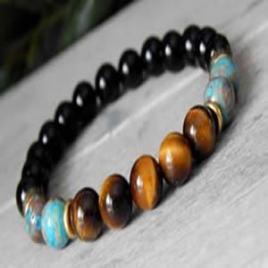 Onyx Tiger Eye Bracelet