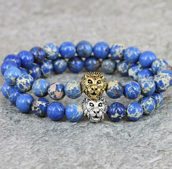 Imperial Blue Jasper Lion