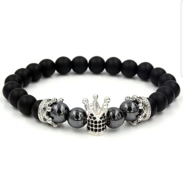 Black Hematite Black Onyx Crown