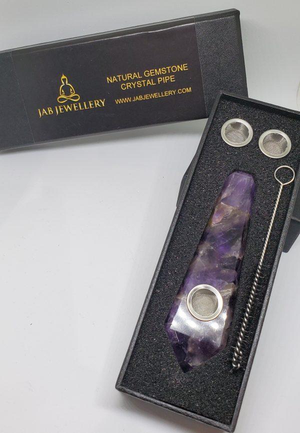 Amethyst Crystal Pipe